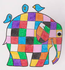 Patchwork Elephant Book - elmer the patchwork elephant coloring page color by numbers