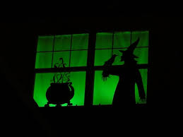 diy halloween window silhouettes daily party dish