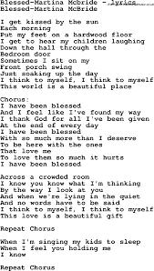 love song lyrics for blessed martina mcbride