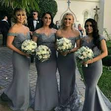 grey bridesmaid dresses buy the shoulder grey bridesmaid dresses mermaid