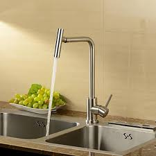 stainless steel contemporary rotatable kitchen faucet brushed