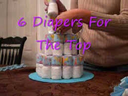make diaper cake with help from video easy instructions youtube
