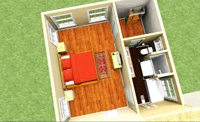 master bedroom plans with bath and walk in closet 3d