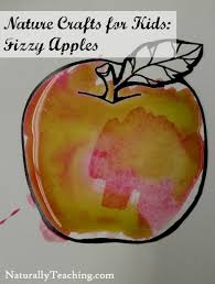 nature crafts for kids fizzy apples naturally teaching