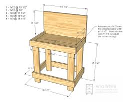 Woodworking Plans Park Bench Free by Ana White Toy Workbench Diy Projects