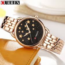 bracelet gold jewelry watches images 2018 new women 39 s fashion watches curren brand luxury gold black jpg