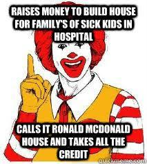 Ronald Mcdonald Meme - scumbag ronald mcdonald memes quickmeme
