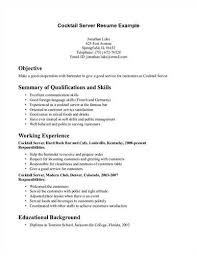 Employment Resume Examples by Waitress Resume Easelly Visual 35 Create A Great Bartender Resume
