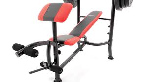 Marcy Bench Press Set Marcy Weight Bench 100lb Weight Set Cb 2982 Youtube
