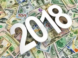new year dollar bill silver numbers 2018 new year against the background of dollar