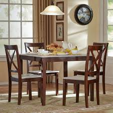 dining room vintage 5 piece of dining set with creamy chairs in