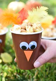 turkey treat cups thanksgiving favors squared