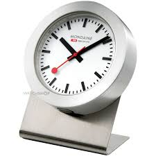 mondaine swiss railways magnetic desk clock a6603031881sbb