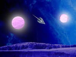 sombrero galaxy cosmic vagabond double moonrise over lunaria iii in the sombrero
