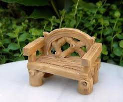 Resin Wood Outdoor Furniture by Miniature Dollhouse Fairy Garden Furniture Small Resin Wood Look