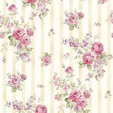 Shabby Chic Pink Wallpaper by Dollhouse Miniature Shabby Chic Wallpaper Pink U0026 Tan Stripe Floral