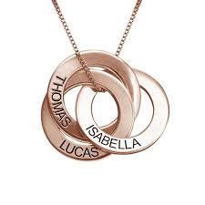 rose tone necklace images Rose gold tone russian ring engraved necklace sterling silver jpg