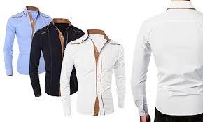design hemd herren hemd mit design details groupon