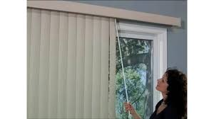 bali vertical blind with one touch wand control american blinds