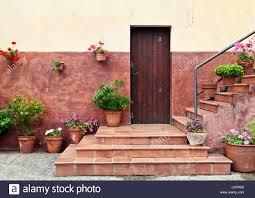mediterranean style house entrance stock photo royalty free image