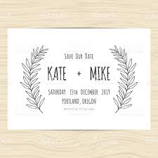 Date Invitation Card Save The Date Wedding Invitation Card Template With Flower Wreath