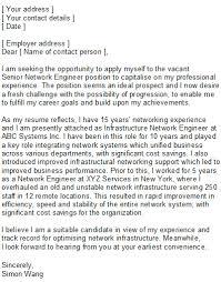best sample cover letter for network engineer 25 in resume cover