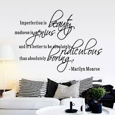 Marilyn Monroe Bedroom by Aliexpress Com Buy Imperfection Is Beauty Marilyn Monroe Vinyl