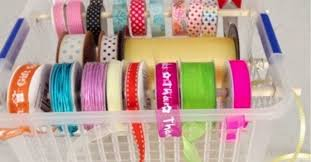 craft ribbon craft room ribbon storage in organizing hometalk
