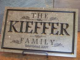 buy a crafted family name plaque made to order from palmer