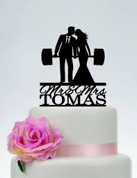 weight lifting cake topper wedding cake topper fitness cake topper weight lifting
