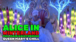 alice in winterland full holiday maze walkthrough at queen mary u0027s