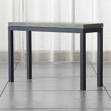 brushed stainless steel console table concrete top console table developerpanda