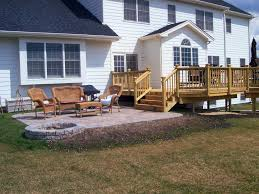 Pictures Of Backyard Decks by How To Build A Patio Deck With Pavers Home Outdoor Decoration