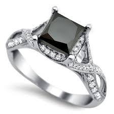 princess cut black engagement rings 2 30ct princess cut black engagement ring 18k white gold
