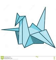 vector illustration japanese paper cranes stock illustration