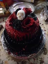Halloween Wedding Cake by Goth Cake By Makkabeusdans Cakes Pinterest Gothic Wedding