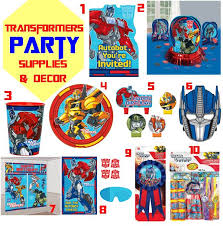 transformer party supplies transformers prime party supplies