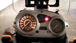 bmw f650 gs startup lights youtube