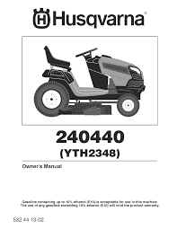 husqvarna lawn mower 240440 user guide manualsonline com
