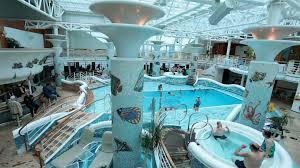 fun cruise ship indoor swimming pool tub hd 7756 stock video