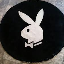 Black Round Rug Playboy Playboy Round Rug Black And White From Belinda U0027s Closet