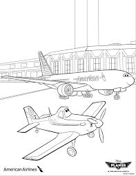 take off with dusty and american airlines with these coloring
