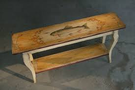 Wooden Furniture Handmade Handmade Custom Painted Rustic Sofa Table By Ecustomfinishes