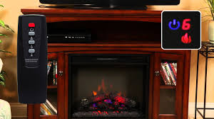 hampton bay media electric fireplace set 23mm6072 youtube