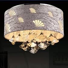 Seashell Light Fixtures Moderne K9 Cristal Plafonniers Luminaire Ronde Coquillage Lint