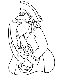 pirate coloring pirate captain coloring