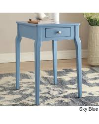 Accent Side Table Find The Best Deals On Bold Accent Single Drawer Side Table Sky Blue