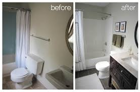 Ideas For Bathroom Renovations by Bathroom Renovation Before And After Pictures Kitchen Design Ideas