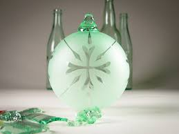 blown recycled glass bottle at blown glass recycled