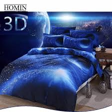 Space Single Duvet Cover Aliexpress Com Buy Microsoft Polyster Cotton Hipster Galaxy